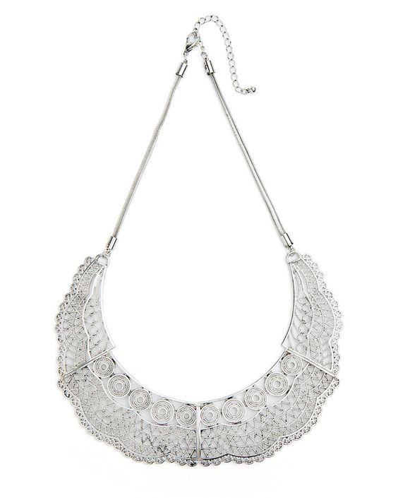 silver lace collar