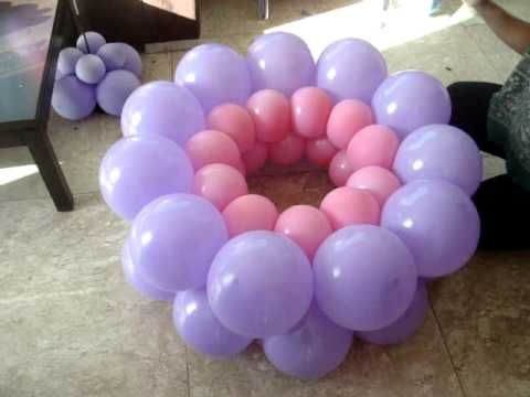 This lady make a balloon decoration so cool i 39 ve seen for Balloon decoration ideas youtube