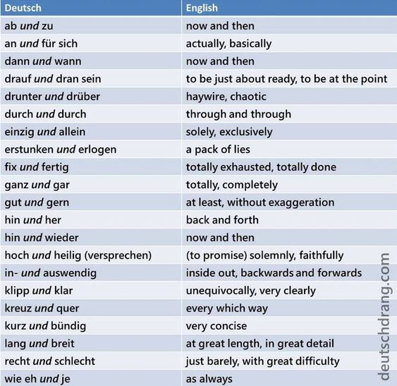 """German idiomatic pairs with """"und"""" (here adjectives"""