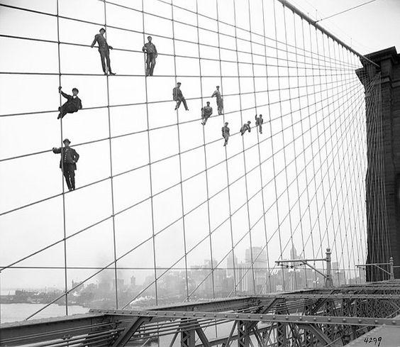 Brooklyn Bridge painters
