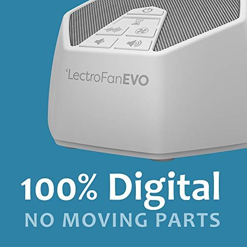 LectroFan Evo White Noise Sound Machine with 22 Unique Non-Looping Fan /& White Noise Sounds /& Sleep Timer