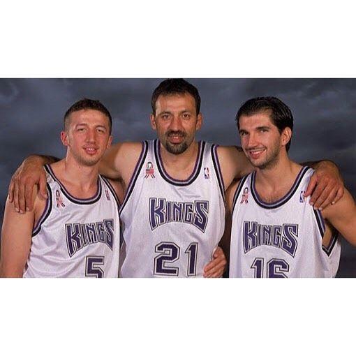 Vladedivac Pejastojakovic Hedo Yugoslavia Basketball Nba Sports Sacramento Kings Sports Jersey