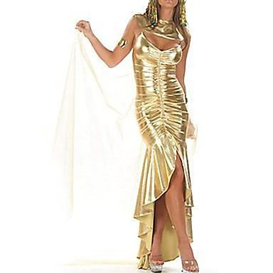 la reina del Nilo Egipto envolver oro tergal vestido de traje de halloween – USD $ 49.99