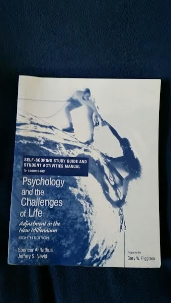 Psychology and the Challenges of Life College Book #WorkbookStudyGuide