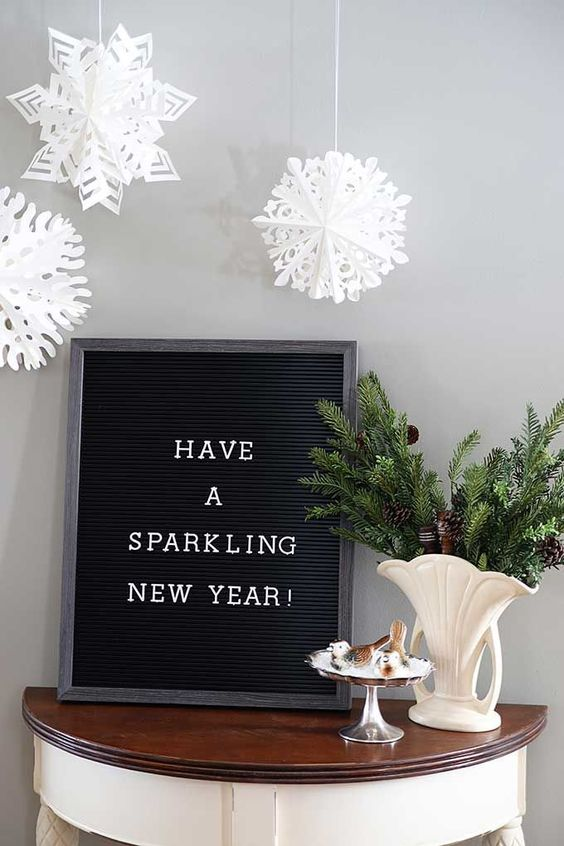 Funny New Years Eve letter board quotes for the holidays. via @HouseHawthornes