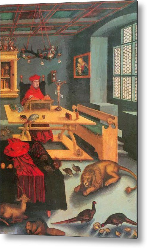 Pin By Ashley Flesouras On Sca Lucas Cranach Medieval Art St Jerome