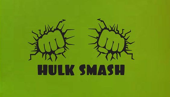 Hey, I found this really awesome Etsy listing at https://www.etsy.com/listing/238091018/hulk-smash-fist-wall-quote-sign-vinyl