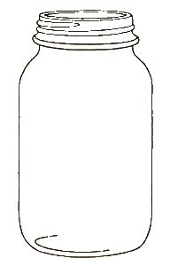 Mason Jar Clip Art Cartoon