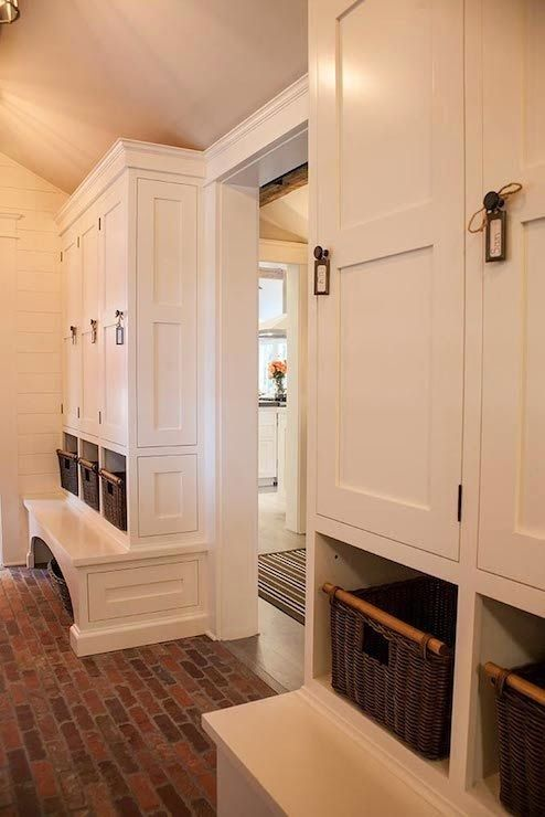 Home channel lockers and tvs on pinterest for Mudroom floor ideas