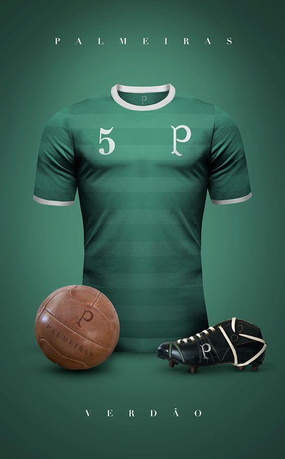 Emilio Sansolini, um designer ítalo-argentino, criou lindas versões retrôs das camisas dos maiores clubes de futebol do mundo.