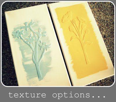Cutout Textured Canvas.