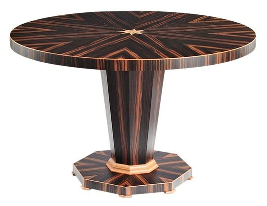 At The Table Or On The Table Rose Pedestal Table Traditional Midcentury Modern Wood Dining Room Table By Lipton Furniture Furniture Dining Table Table Furniture Furniture Side Tables
