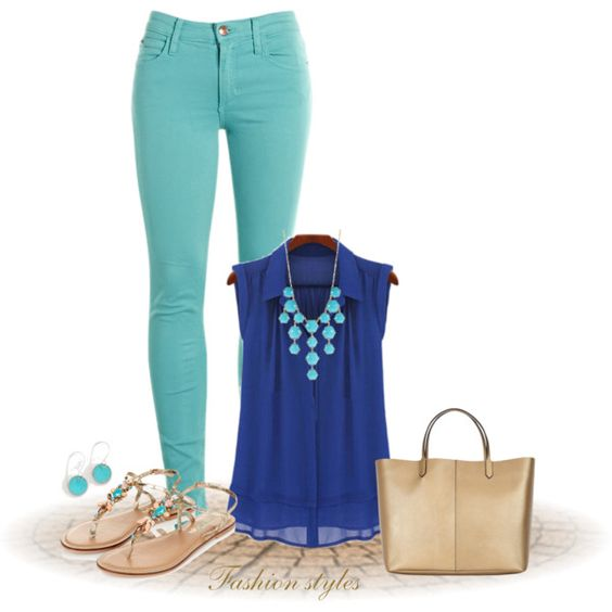 Royal & Turquoise by lily-ramirez on Polyvore featuring moda, Joe's Jeans, Monsoon, Givenchy and Kensie
