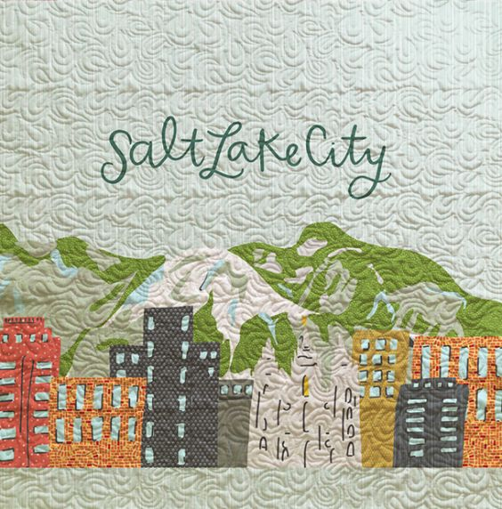 Salt Lake City Skyline Quilt - Custom Quilts by Stitched