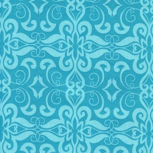 Whispy Swirl Tonal Teal Moroccan Mirage Quilting Sewing