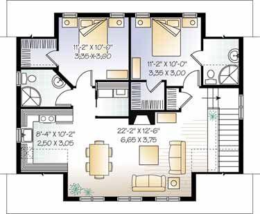 Garage apartment floor plan granny flat annex extension for Garage guest house floor plans