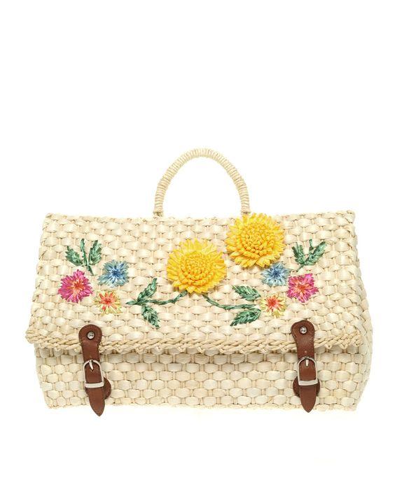 straw satchel