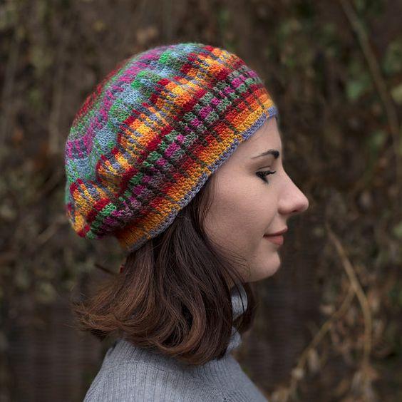 Sombrero de ganchillo boina flexible--el sol y lluvia