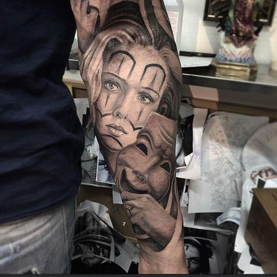 Chicano mask tattoo mexican tattoos pinterest for Turkish mafia tattoos