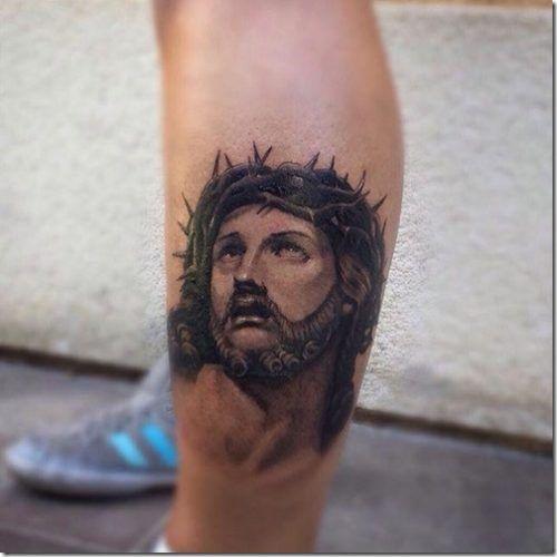 Tatuajes En La Pierna Para Hombres Con Los Mejores Disenos Tatuaje De Jesus Tatuaje De Cristo Tatuajes Pierna