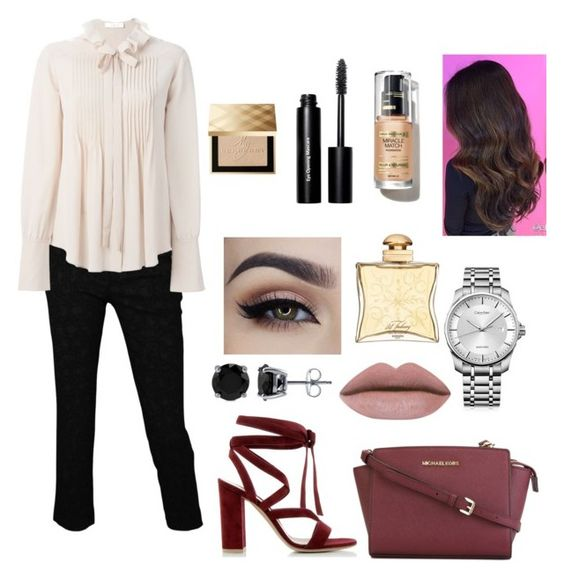 """""""Untitled #17"""" by andreea2410 ❤ liked on Polyvore featuring MICHAEL Michael Kors, Gianvito Rossi, Roberto Cavalli, Chloé, BERRICLE, Calvin Klein, Hermès, Bobbi Brown Cosmetics, Burberry and women's clothing"""