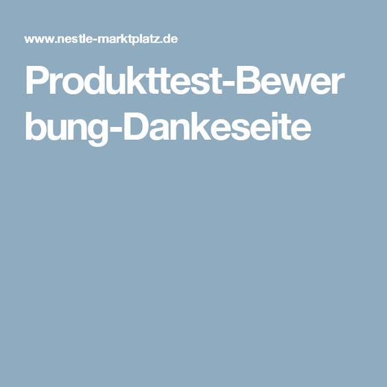 Produkttest-Bewerbung-Dankeseite