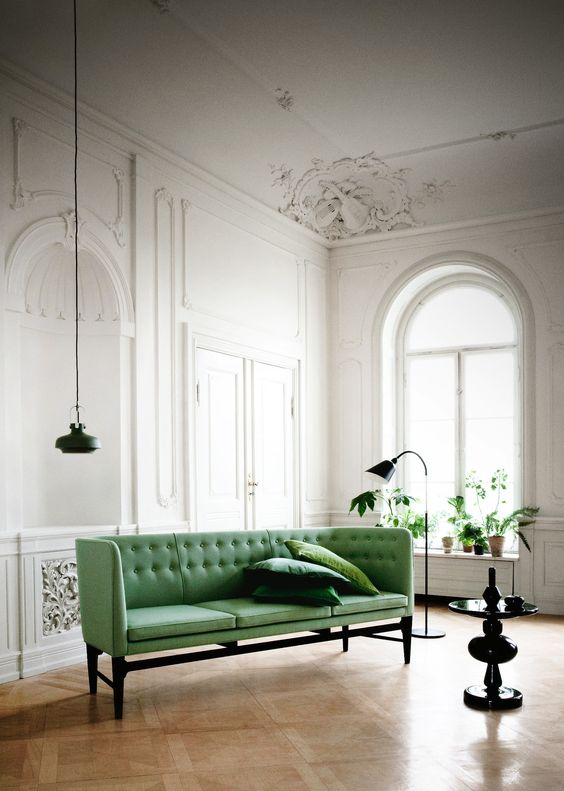 Canapé vert