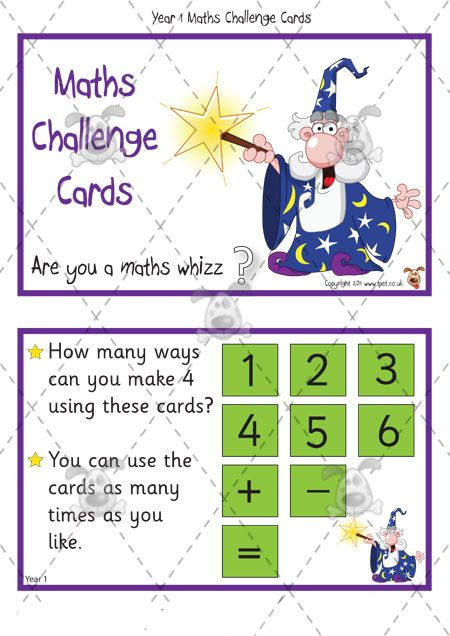 math worksheet : teacher s pet  year 1 maths challenge cards pack 1  premium  : Key Stage 2 Maths Worksheets To Print