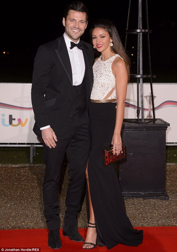 Supporting a good cause: Glamorous duo Mark Wright and Michelle Keegan took time out of th...