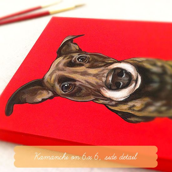 I'm in love with these custom pet portraits from The Pet Shop!