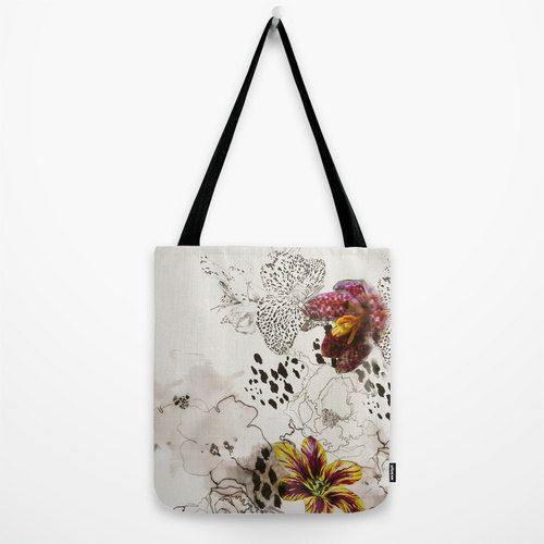 Leopard Orchid // Canvas Tote by MarcellaWylie on Etsy, £26.00