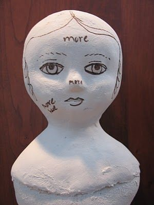 Northdixie Designs: Cloth Over Paper Clay Doll Update