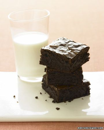 Chocolate-Ginger Brownies   The batter for these fudgy ginger brownies doesn't dirty a single bowl. Butter and chocolate are melted in a saucepan, and the other ingredients are stirred right in. #marthastewart
