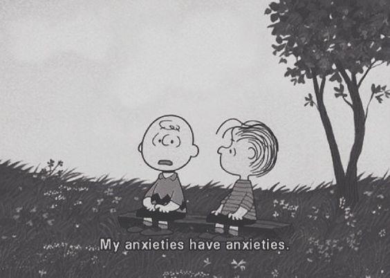 Crianças do desenho snoopy conversando sobre ansiedade.