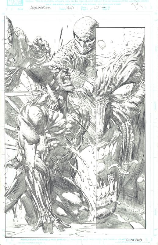 Wolverine #900 p.10 by David Finch, in David T's Original Art Comic Art Gallery Room - 1006551
