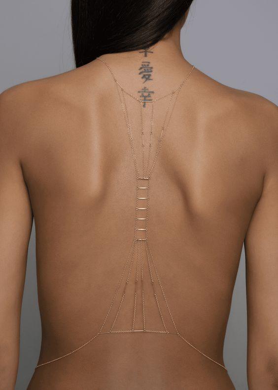 50 Back Tattoos For Women Page 28 Of 51 Body Chain Jewelry Belly Jewelry Body Jewelry