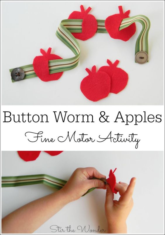 Fine Motor Red Green And Caterpillar On Pinterest