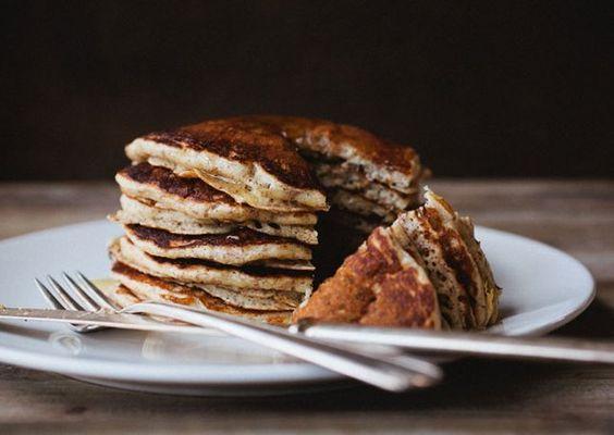 Nutty Whole Wheat Pancakes | Hungry? Hamptons. | Pinterest | Whole ...