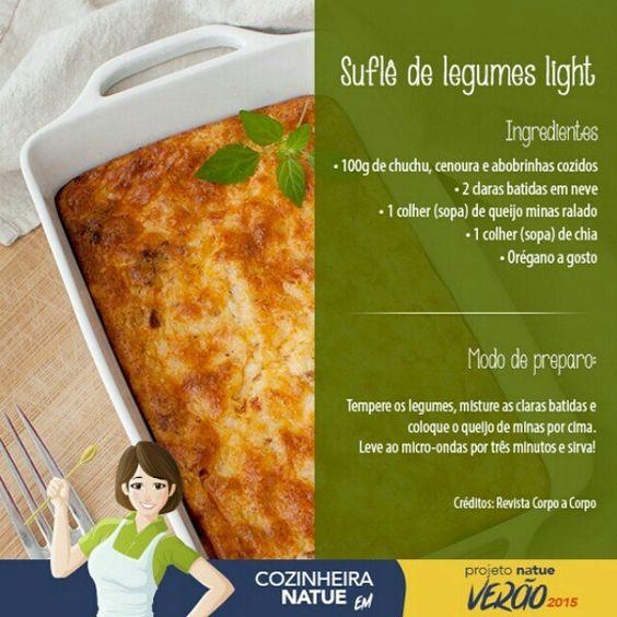 Suflê de legumes light