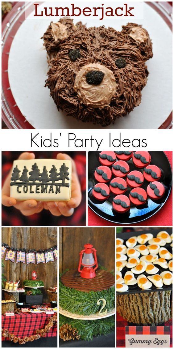 Rustic, outdoorsy lumberjack boy birthday party with great DIY details! See more party ideas at CatchMyParty.com.
