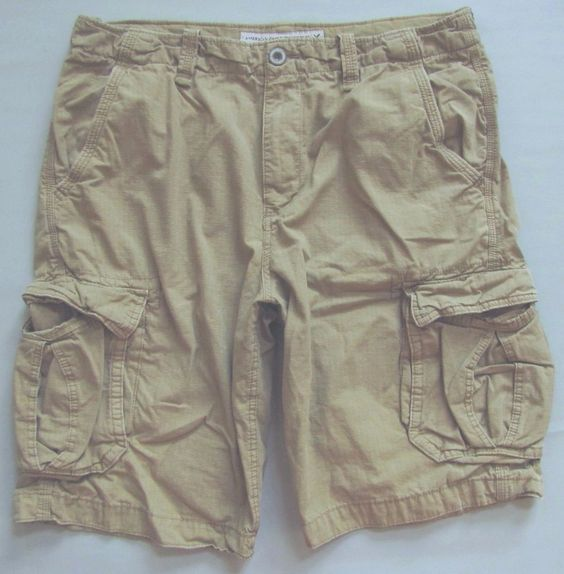 "American Eagle Outfitters Longboard Ripstop 12"" Cargo Shorts 36 Light tan khaki #AmericanEagleOutfitters #Cargo"
