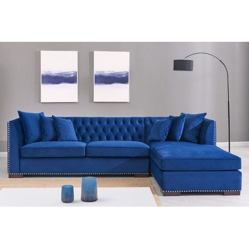 Willa Arlo Interiors Melanie Corner Sofa Wayfair Co Uk Corner Sofa Design Living Room Decor Blue Sofa Sofa Bed Design