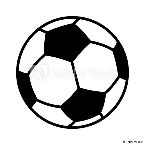 Soccer Ball Or Football Flat Vector Icon For Sports Apps And Websites In 2020 Soccer Ball Soccer Free Clip Art