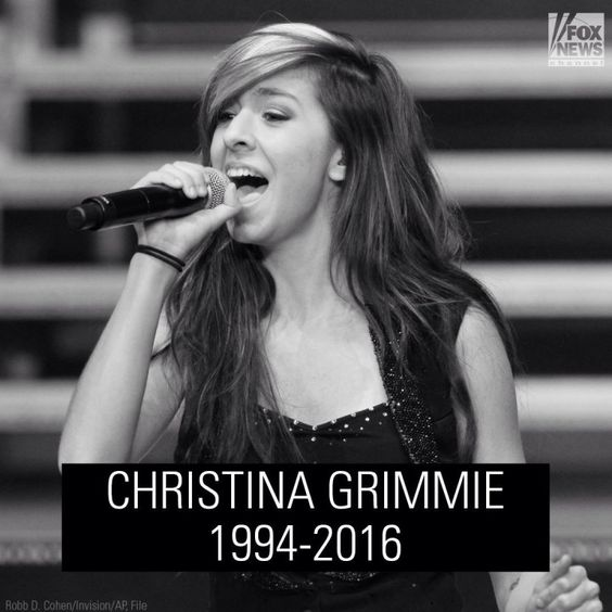 Rip Christina Grimmie. I loved you on The Voice and I had so much hope. It's sick that anyone could shoot such a young soul.