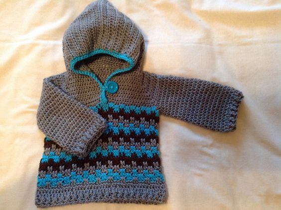 Crochet Baby Hooded Sweater Pattern Free : FREE Crochet Sweater Ravelry: Leaping Crochet Baby Hoodie ...