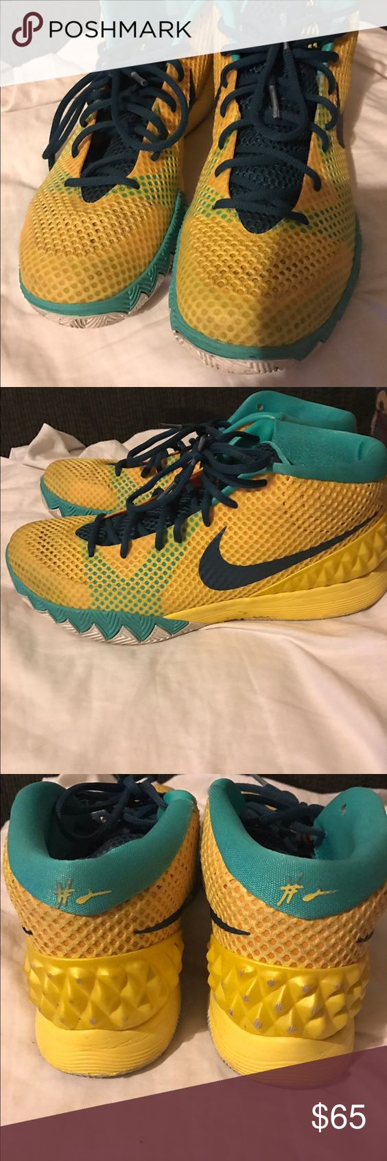 62058e2fd384 ... promo code for 812653 160 jordan cavs nike kyrie 1 letterman tour  yellow teal size 10.5