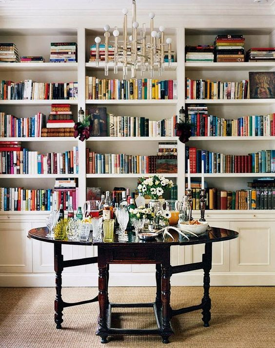 Bar, Round Tables And Libraries On Pinterest