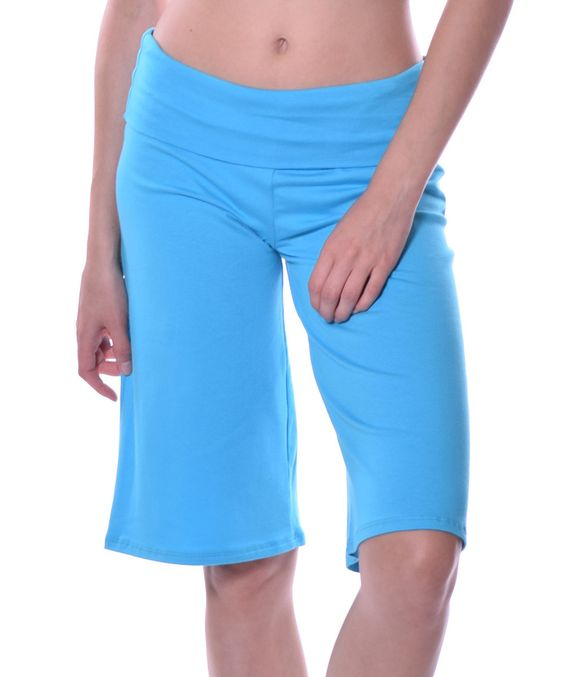 This Pastels Turquoise Wide-Leg Bermuda Shorts by Pastels is perfect! #zulilyfinds
