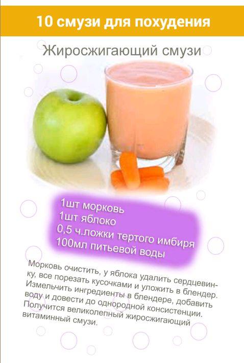 смузи для похудения в блендере рецепты с фото