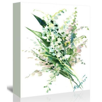 Americanflat Lilies of the Valley 2 by Suren Nersisyan Painting Print on Gallery Wrapped Canvas Size: